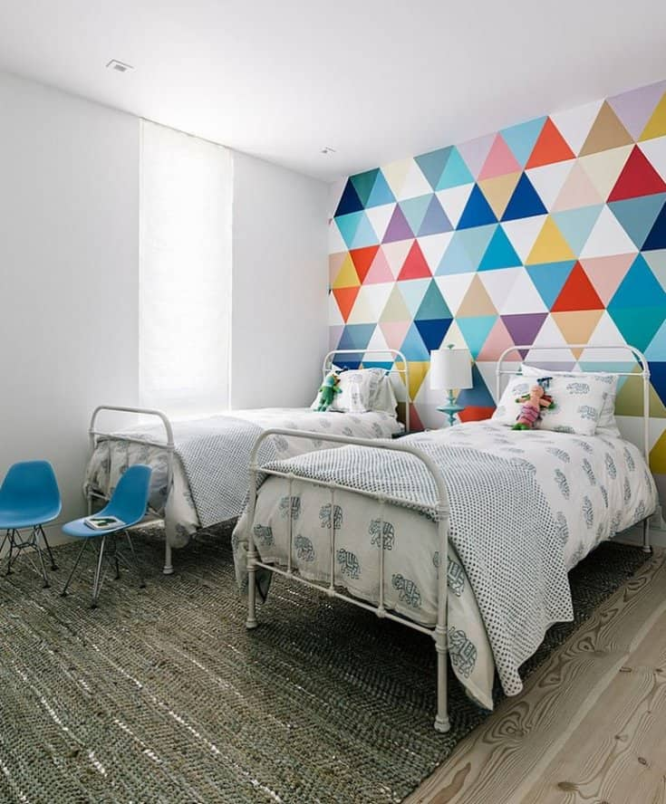 Wallpaper Accent Wall Ideas Bedroom - Design Diamond Wall Painting - HD Wallpaper