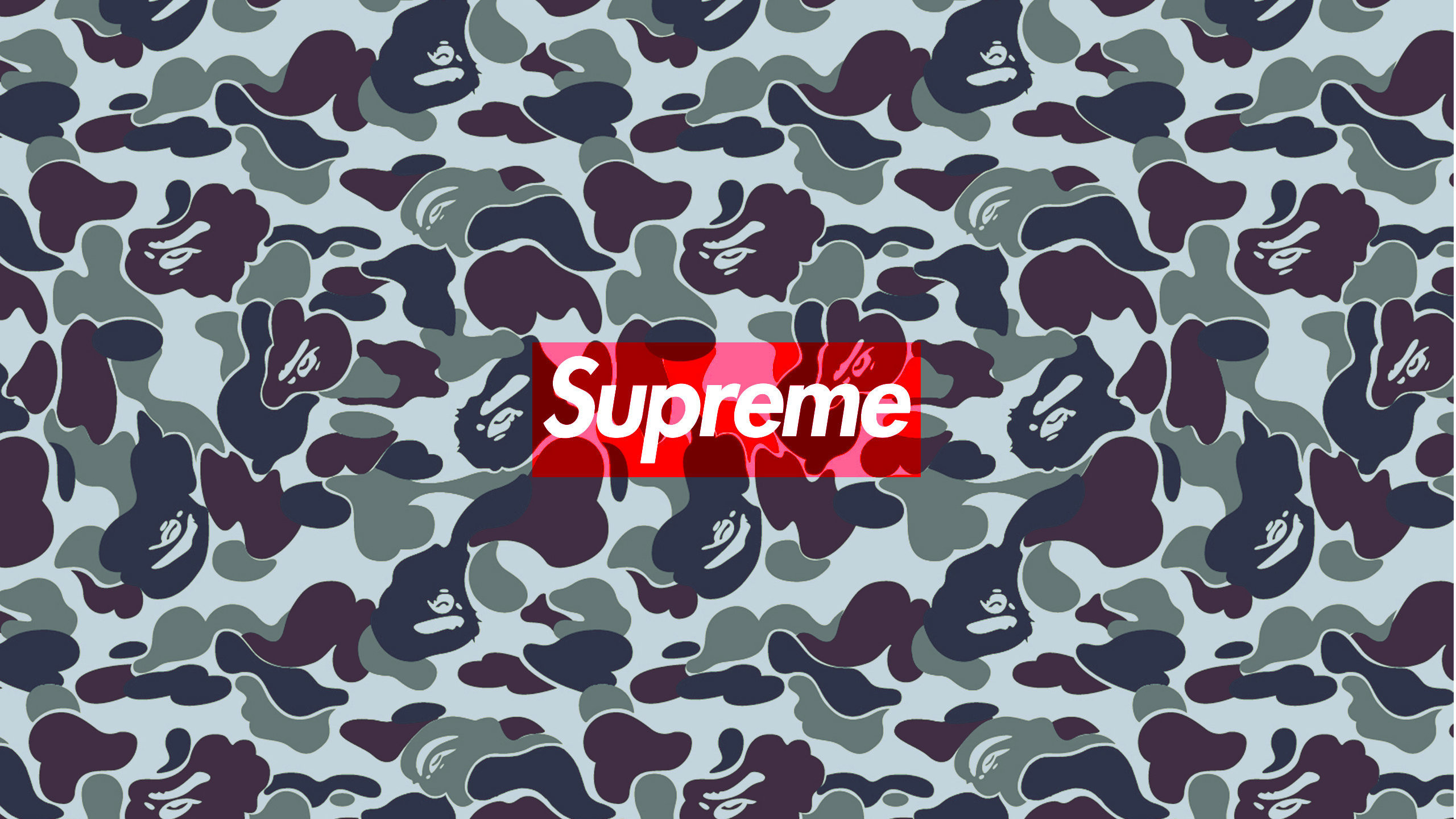 Download The Supreme Bape Urban Camo Wallpaper Below - Supreme Wallpaper For Ps4 - HD Wallpaper