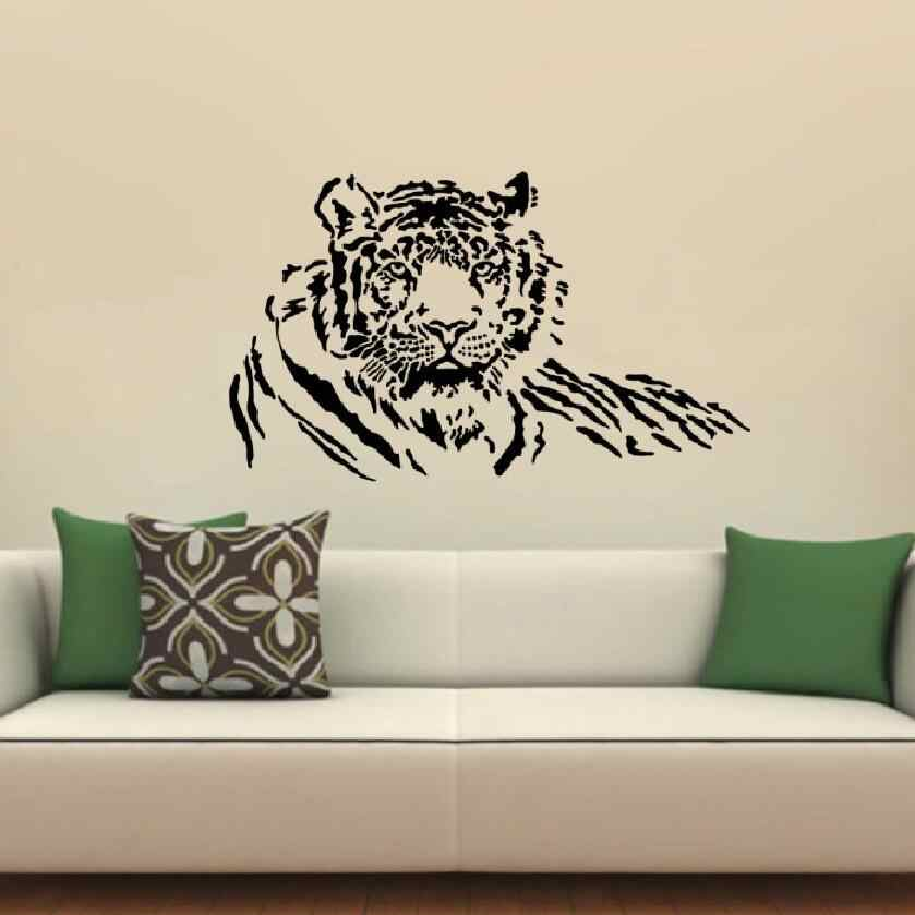 Tiger Wall Decal Vinyl Art Diy Sticker Mural Zoo Safari - Bedroom Wall Sticker Tiger - HD Wallpaper