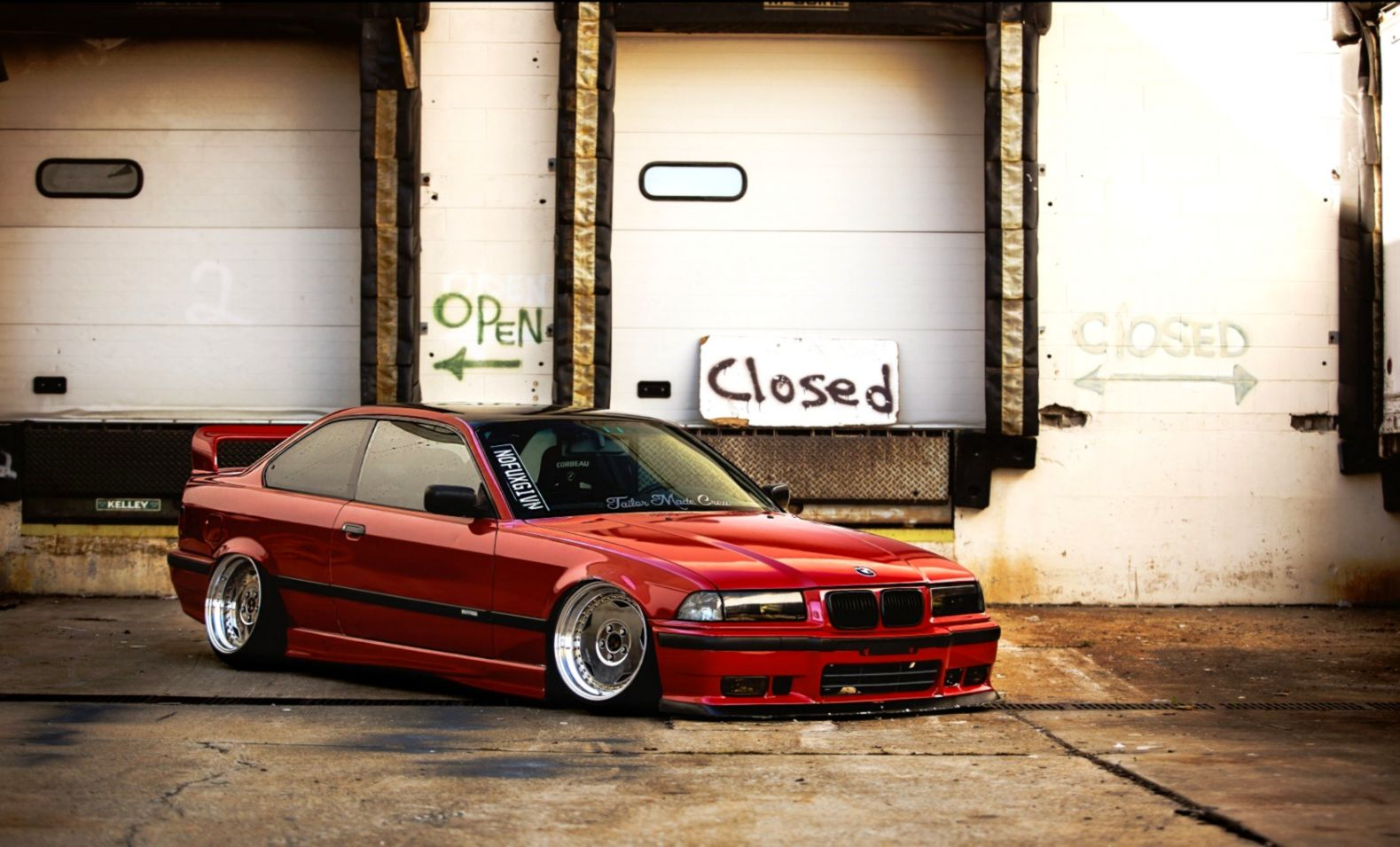 Bmw E36 Red Tuning Parking Bmw E36 Full Hd 1579x955 Wallpaper Teahub Io
