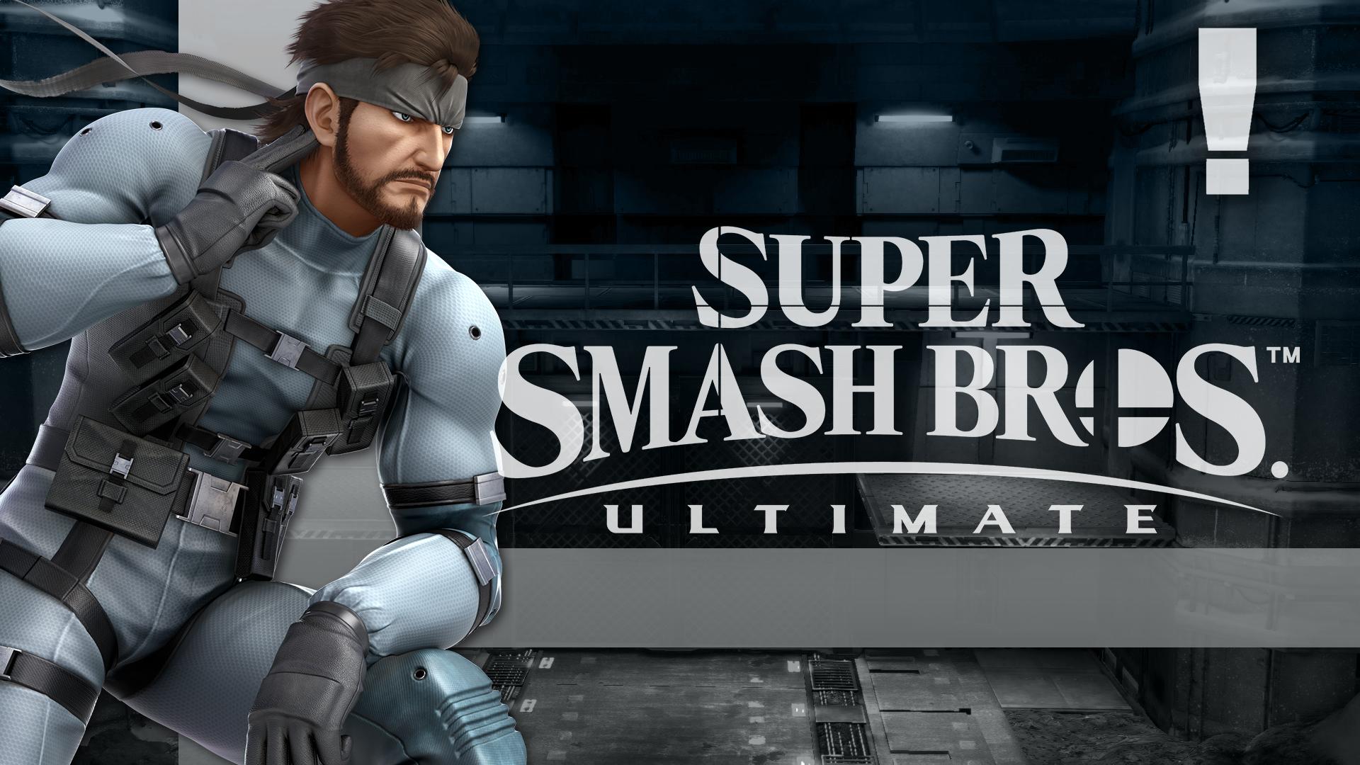 Super Smash Bros, Solid Snake, Crossover, Metal Gear - Super Smash Bros Ultimate Snake - HD Wallpaper