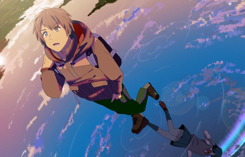 Photo Wallpaper Water, Girl, Reflection, Anime, Art, - Your Name Anime Art - HD Wallpaper