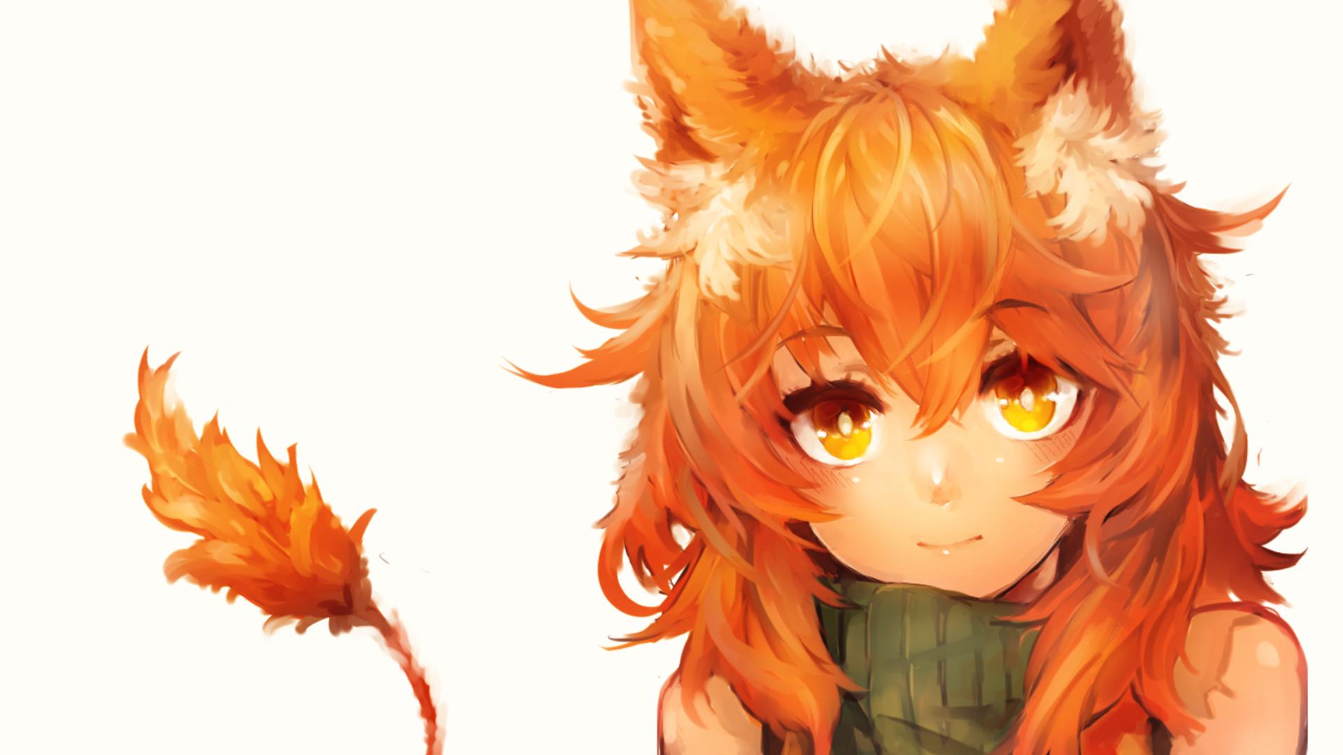 Red Hair Cat Girl