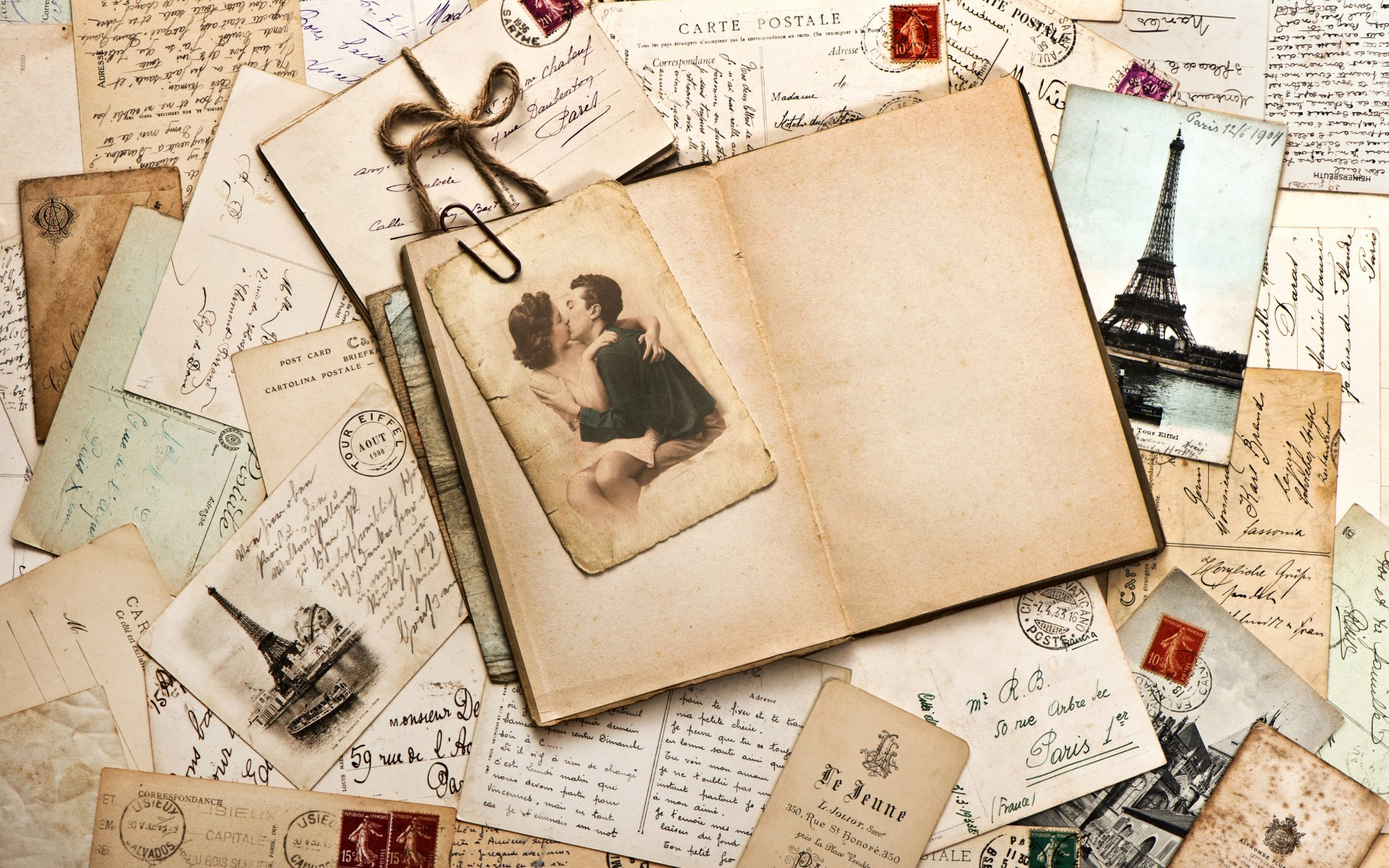 Resize & Crop It In Available Screen Resolutions - Vintage Love Letter - HD Wallpaper