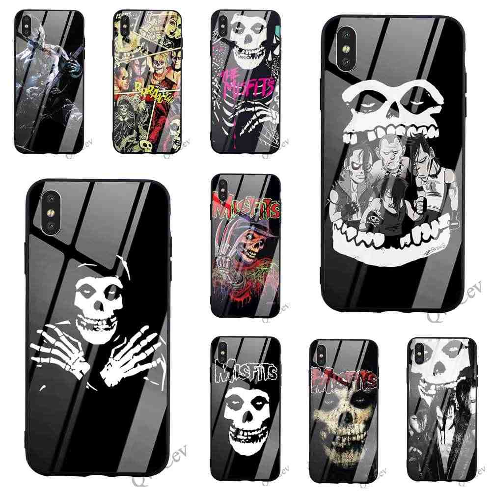 Print The Misfits Jerry Only Tempered Glass Phone Case - Iphone 8 ケース ターミネーター - HD Wallpaper