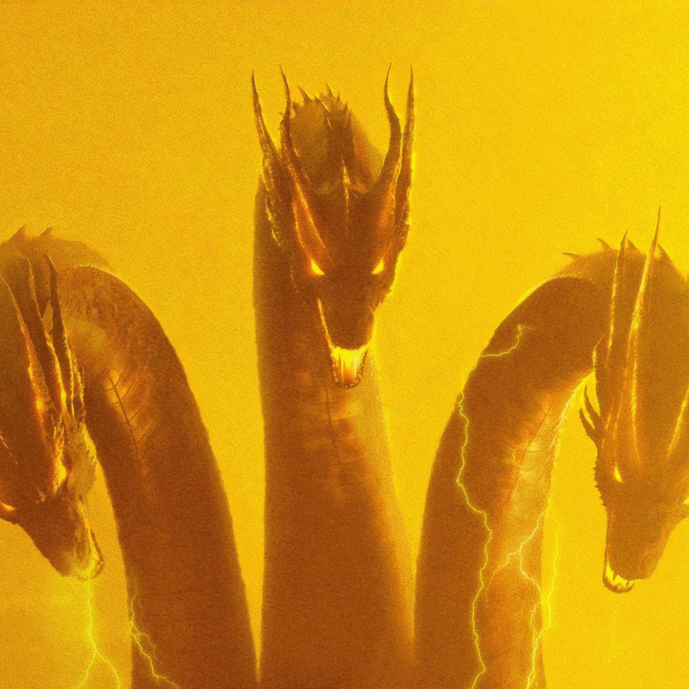 Three Head Dragon, Godzilla - Godzilla King Of The Monsters King Ghidorah - HD Wallpaper