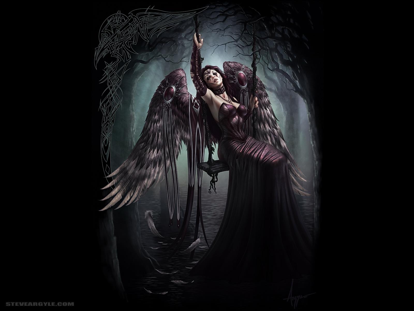 Fantasy Art Dark Angels - HD Wallpaper