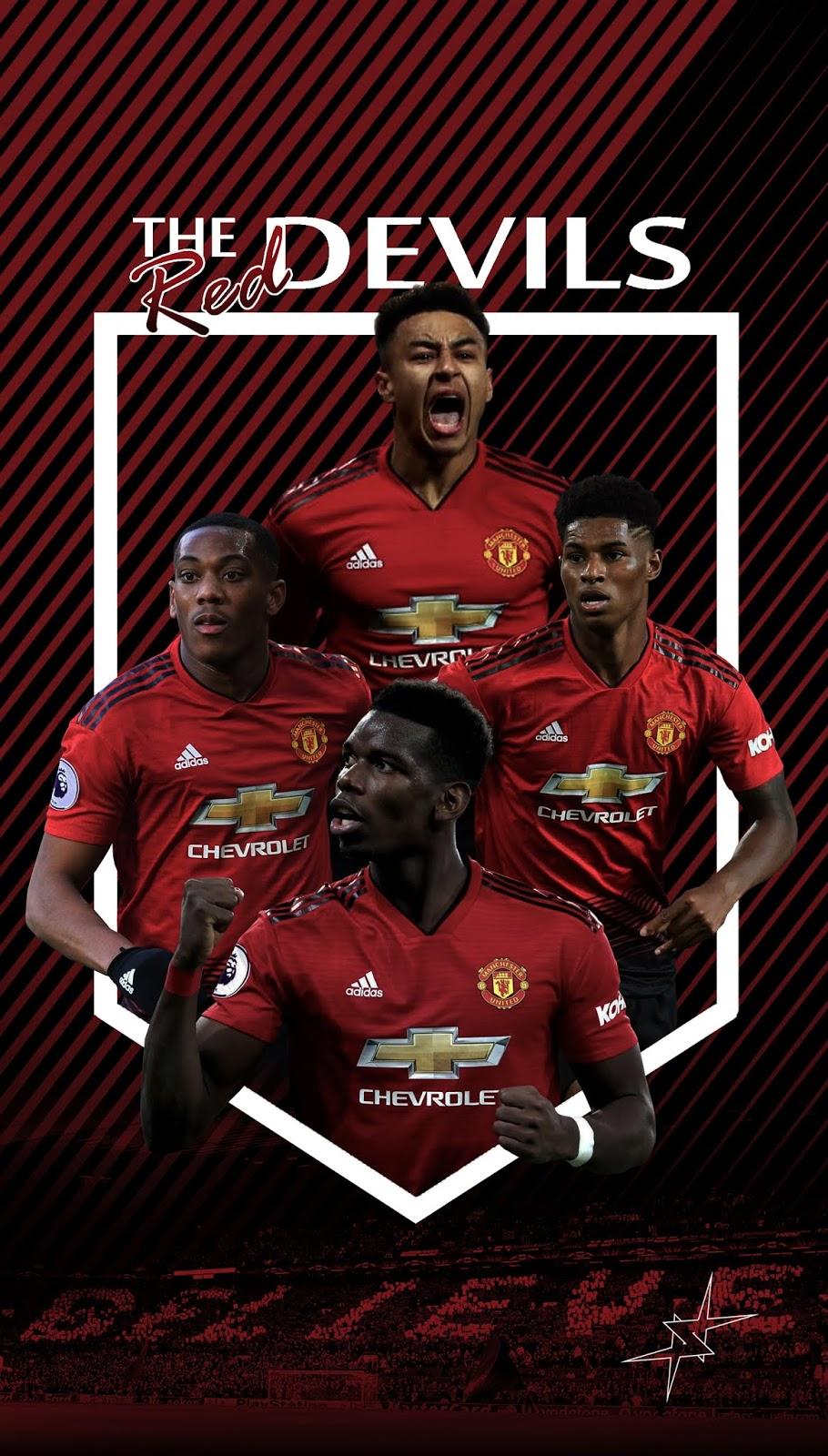 Wallpaper Manchester United Terbaru Man U Wallpaper 2019 910x1600 Wallpaper Teahub Io