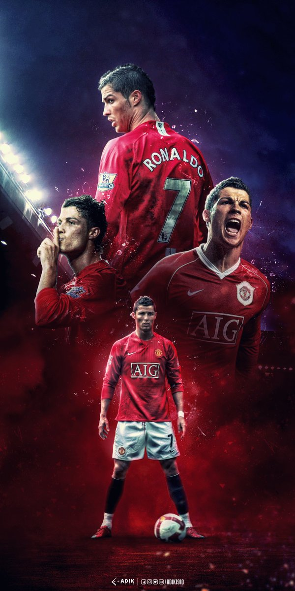 Cristiano Ronaldo Wallpaper Manchester United 600x1200 Wallpaper Teahub Io
