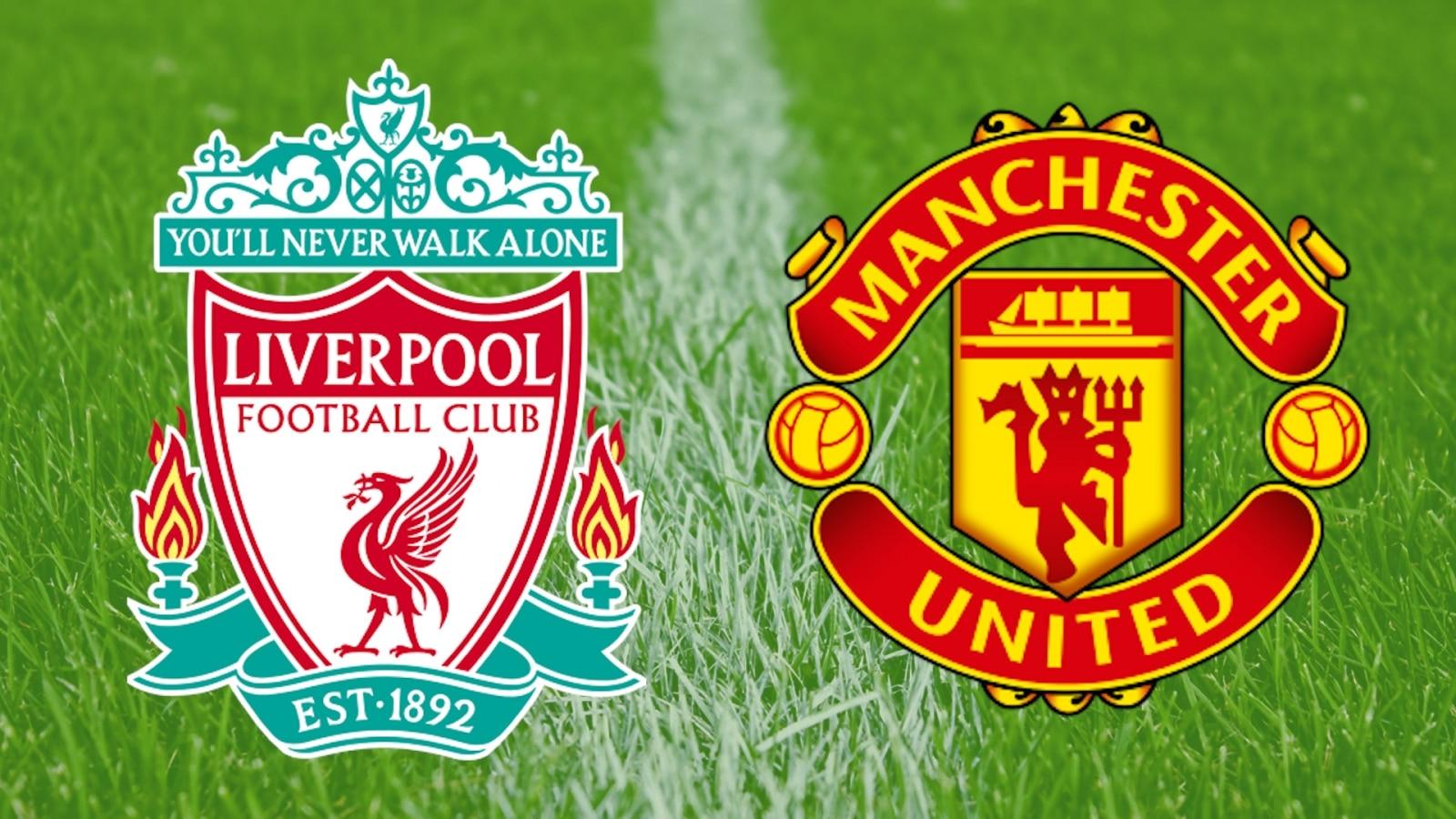 Liverpool Vs Man United Logo 1600x900 Wallpaper Teahub Io
