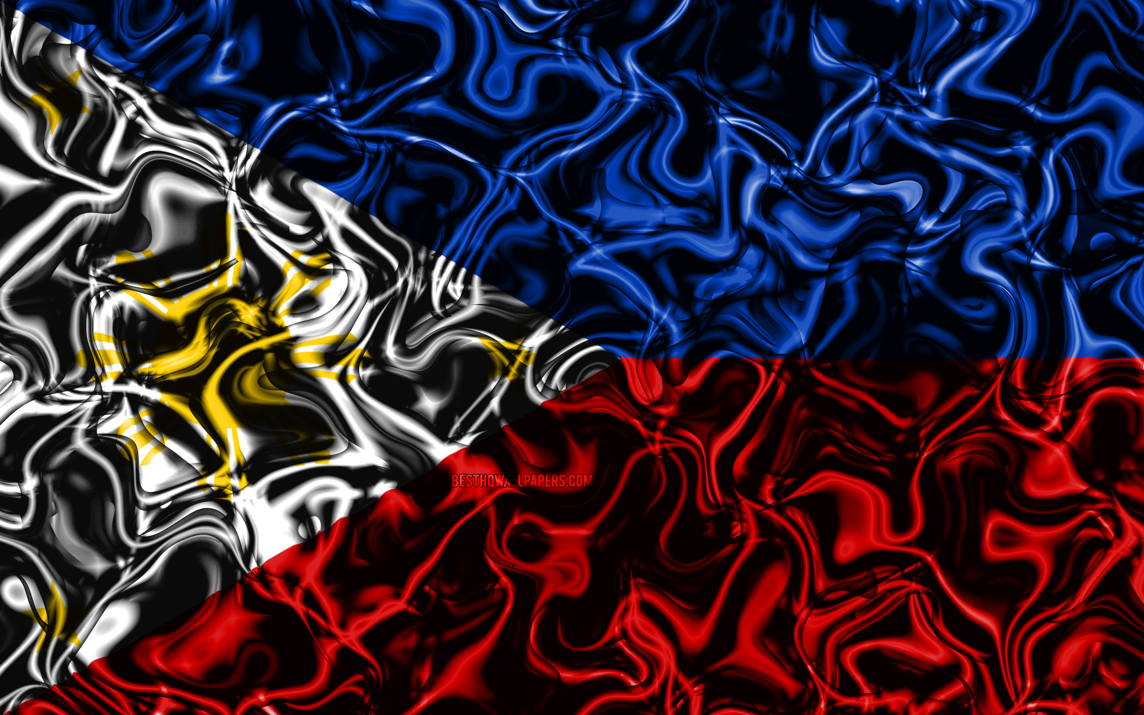 4k Flag Of Philippines Abstract Smoke Asia National Bandera De Peru Para Fondo De Pantalla 3840x2400 Wallpaper Teahub Io