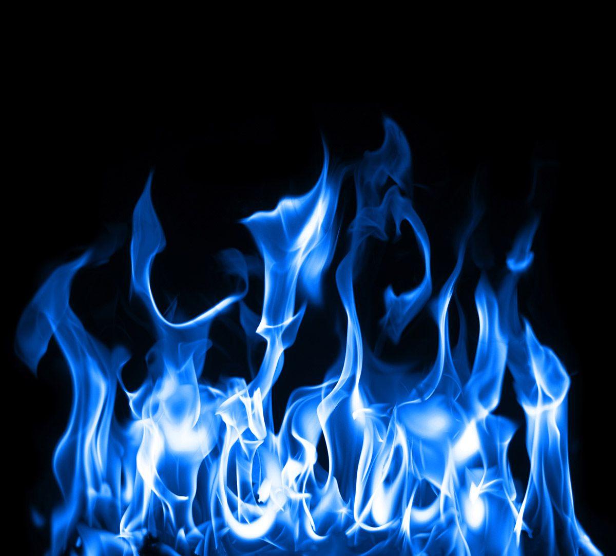 Blue Flame Wallpaper Hd