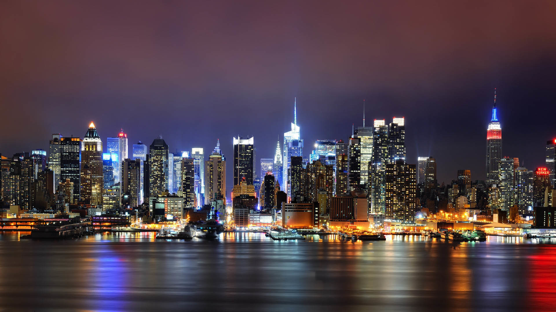 New York City Night Wallpapers Hd   Data-src - New York City Night Skyline - HD Wallpaper