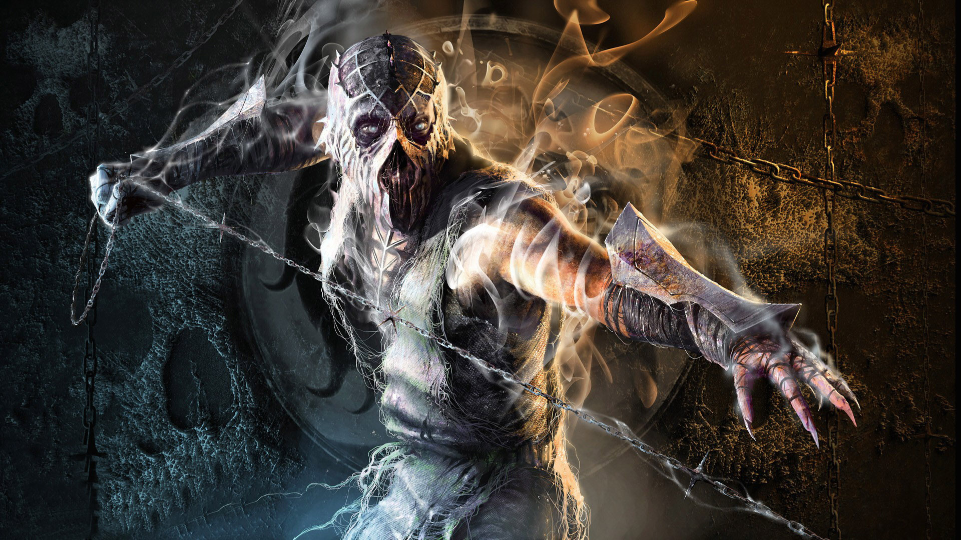 Scorpion Mortal Kombat Smoke Mk Fan Art 1920x1080 Wallpaper