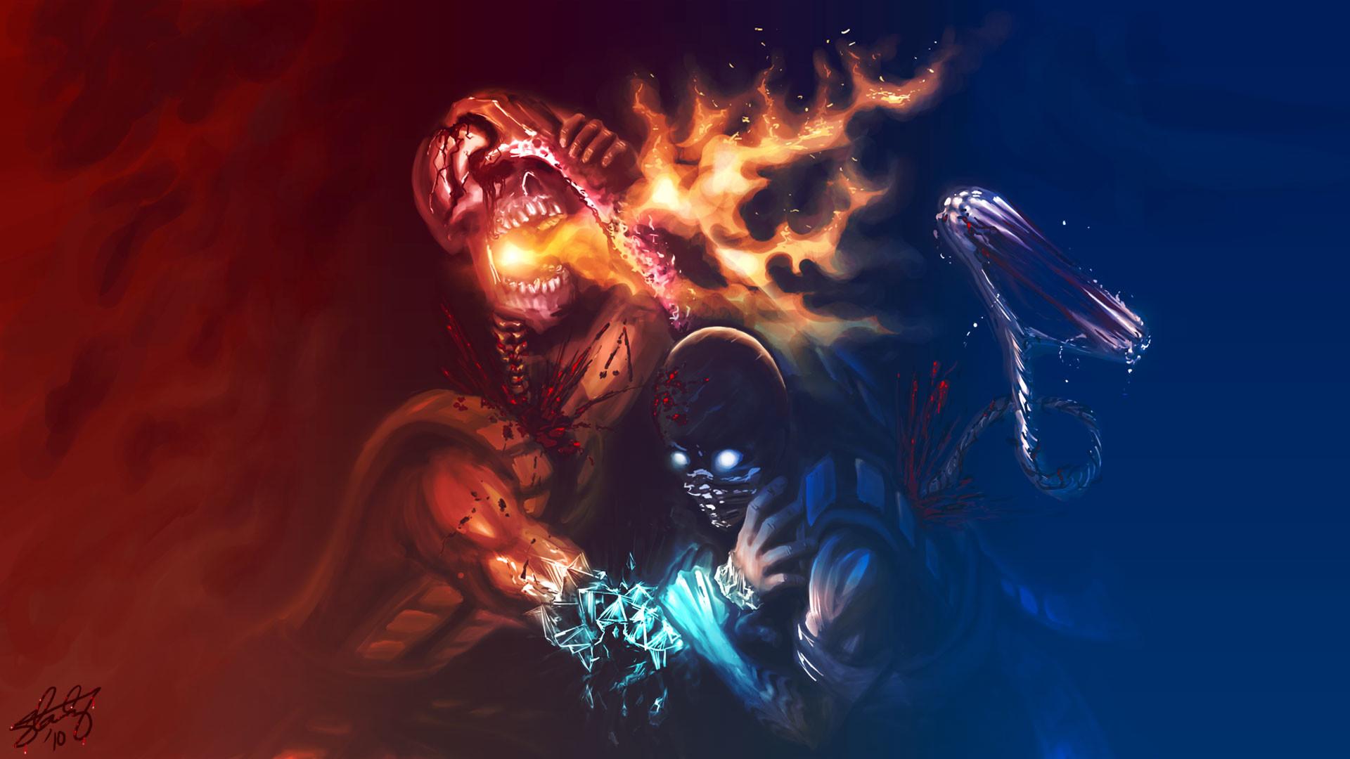 mortal kombat scorpion wallpaper hd