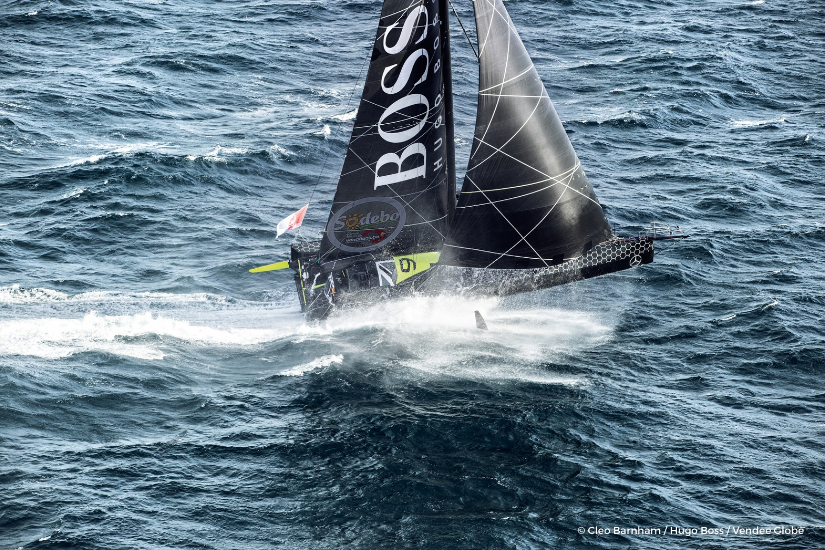 Sailing Aerial Images Of The Imoca Boat Hugo Boss ôァンデ °ローブ Õォイル ȉ‡ 1680x1120 Wallpaper Teahub Io
