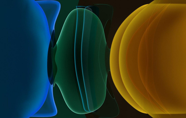 Photo Wallpaper Apple, Iphone, Abstract, Dark, September, - Fractal Art - HD Wallpaper