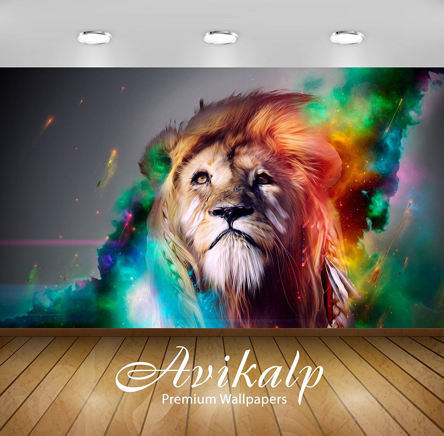 Avikalp Exclusive Awi1717 Lion Color Abstract Full - Colorful Lion - HD Wallpaper