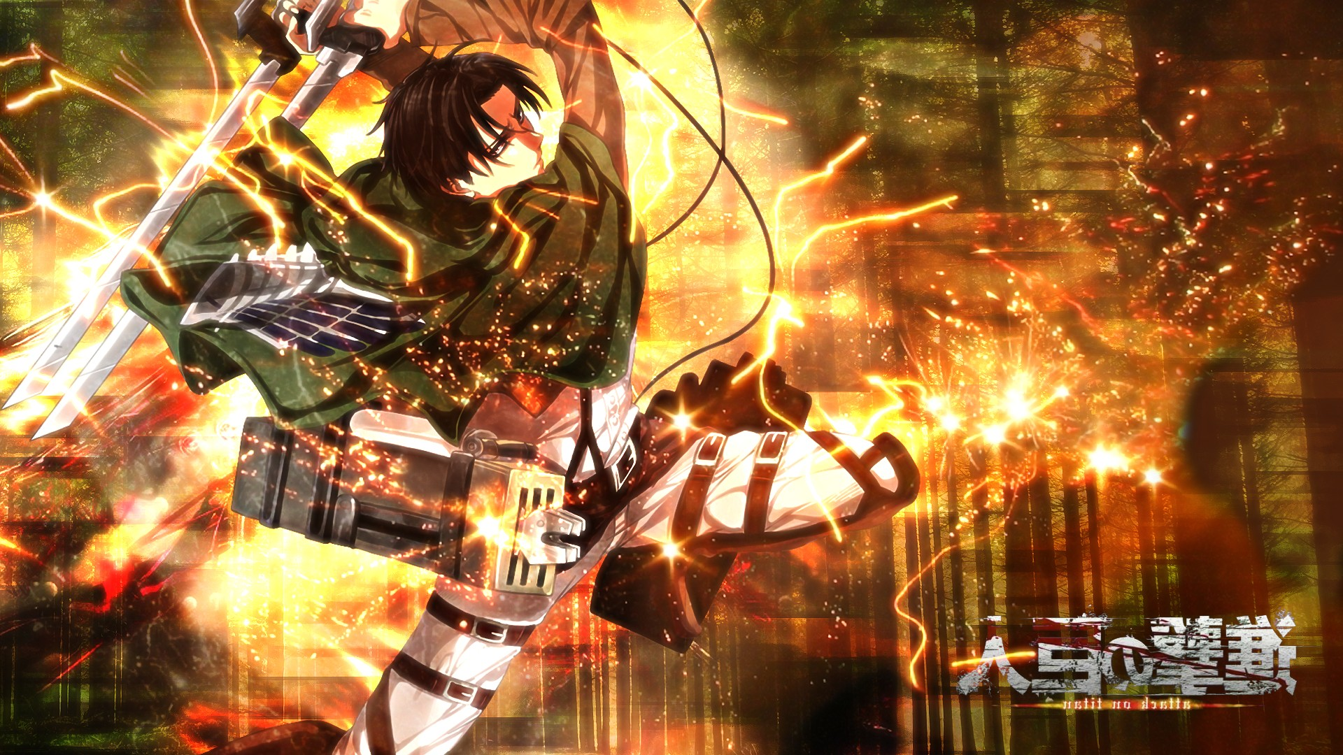 Attack On Titan Desktop Wallpaper Shingeki No Kyojin Wallpaper Levi 1920x1080 Wallpaper Teahub Io