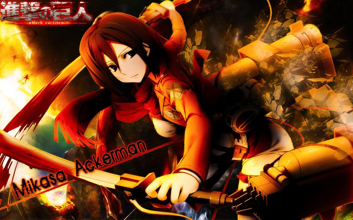 Mikasa Ackerman Attack On Titan Wallpaper Anime Wallpapers - Shingeki No Kyojin Title - HD Wallpaper