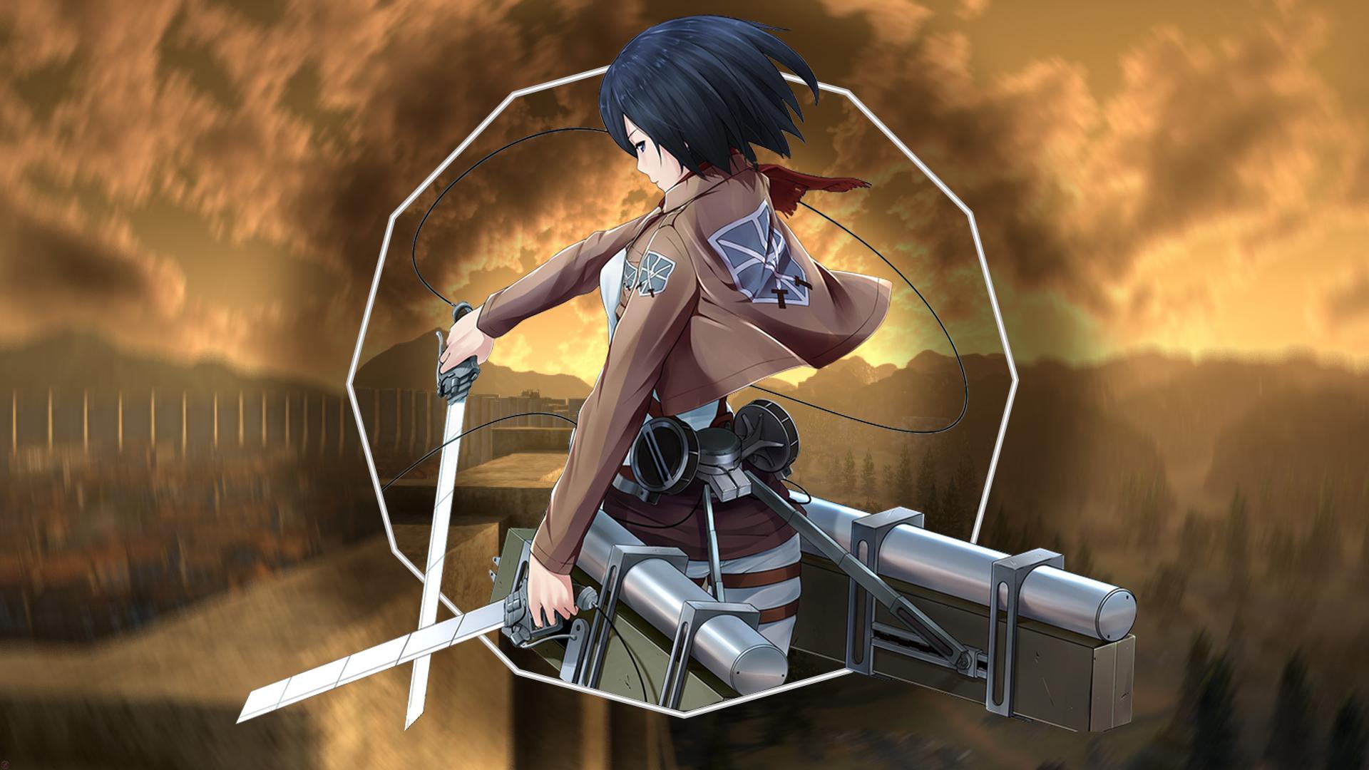 Mikasa Ackerman Shingeki No Kyojin 1920x1080 Wallpaper Teahub Io