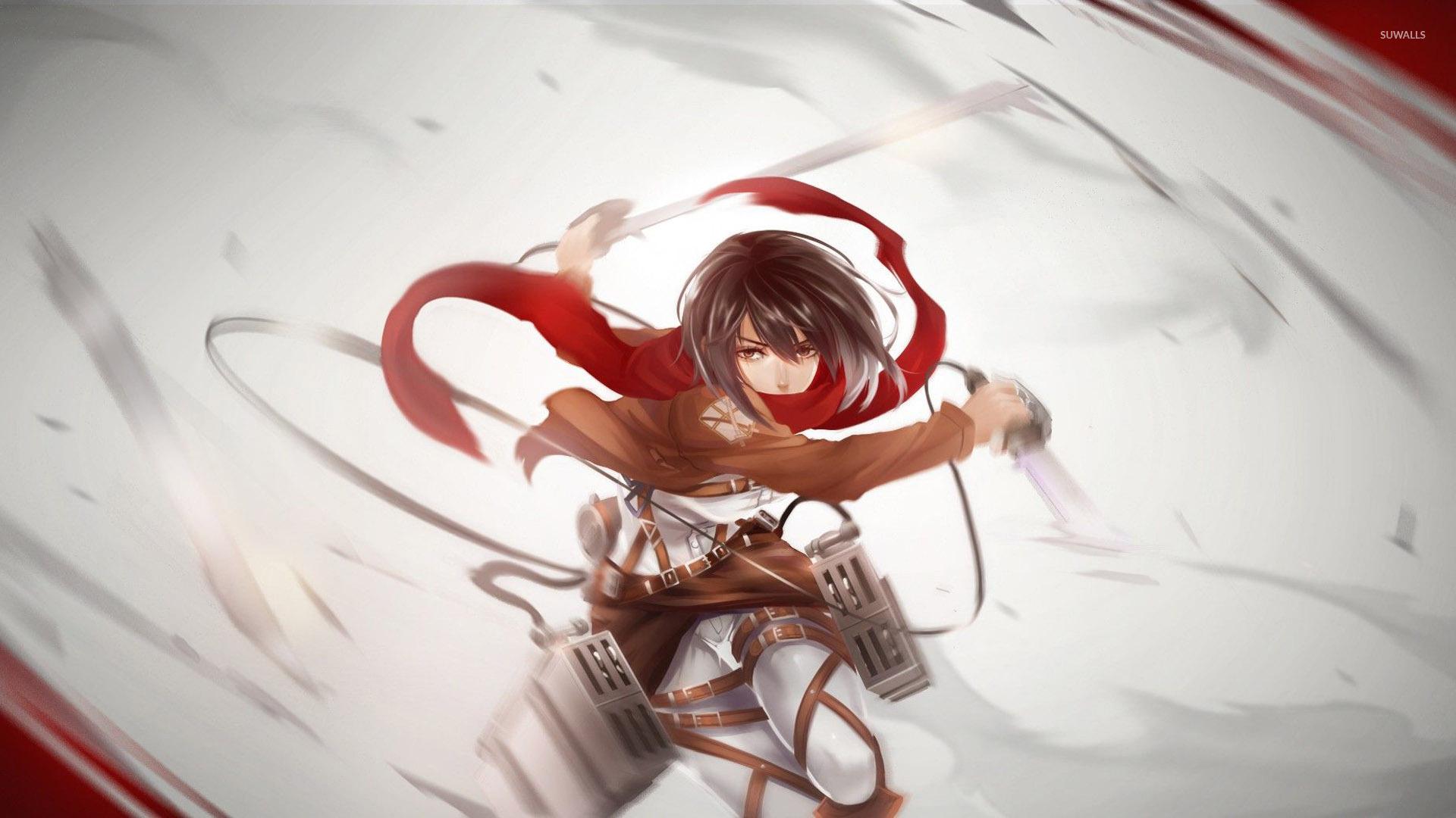 Anime Wallpaper Attack On Titan Mikasa - HD Wallpaper