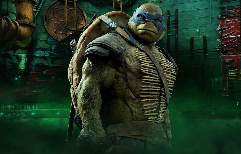 Photo Wallpaper Cinema, Tmnt, Leonardo, Movie, Teenage - Teenage Mutant Ninja Turtles Leonardo Movie - HD Wallpaper