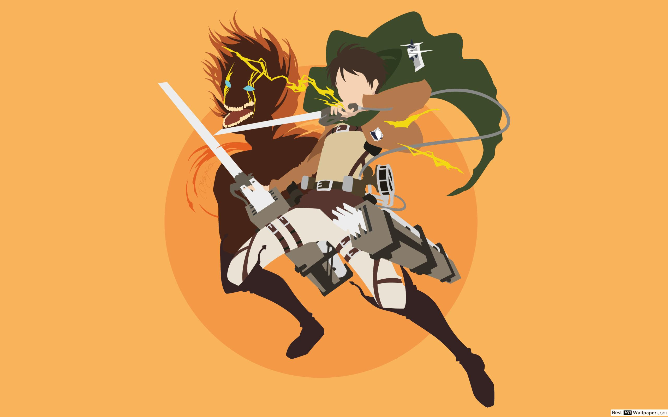 Attack On Titan Minimalist 2560x1600 Wallpaper Teahub Io