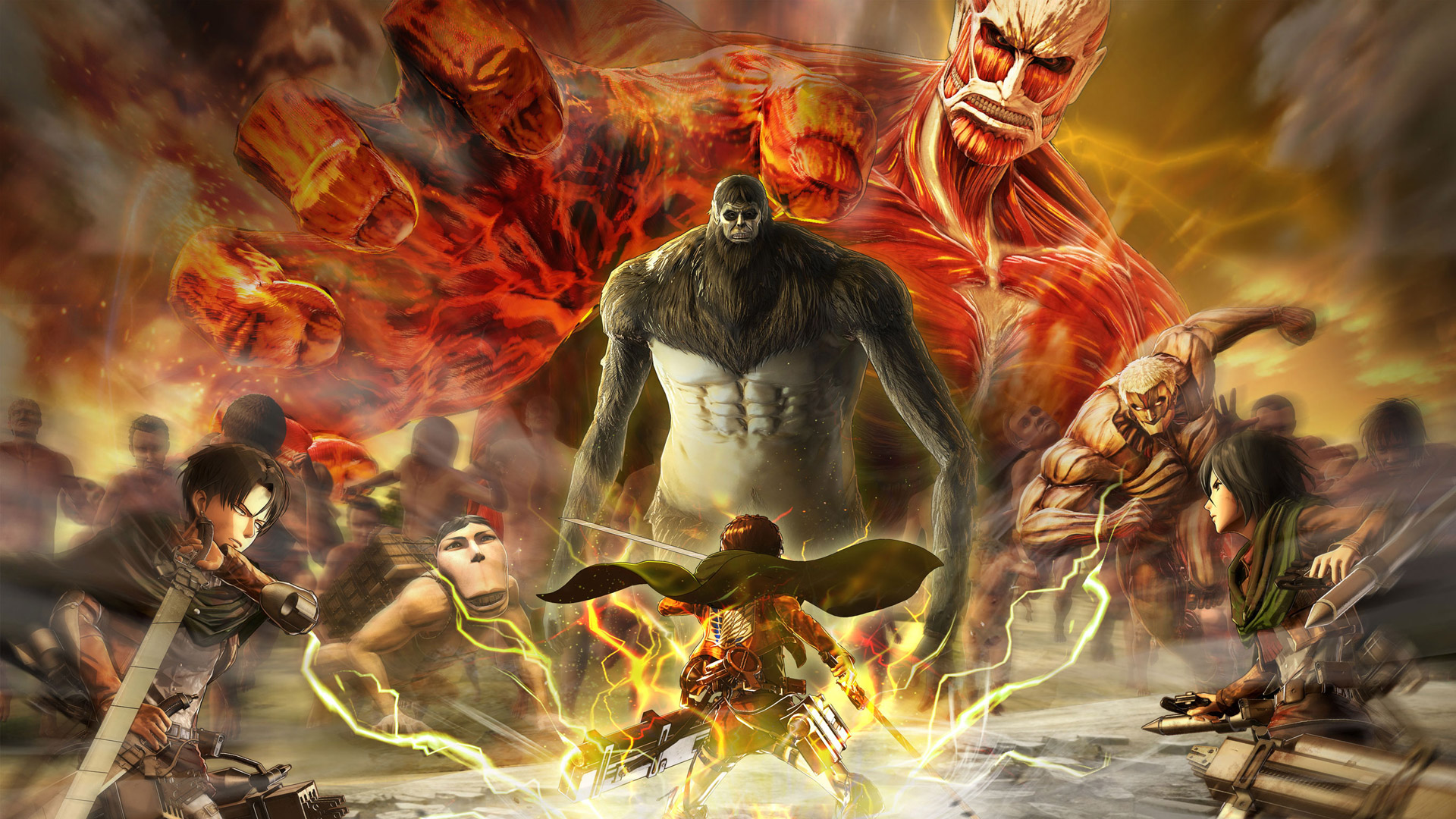 Free Attack On Titan 2 Wallpaper In Attack On Titan 2 Final Battle Game 1920x1080 Wallpaper Teahub Io
