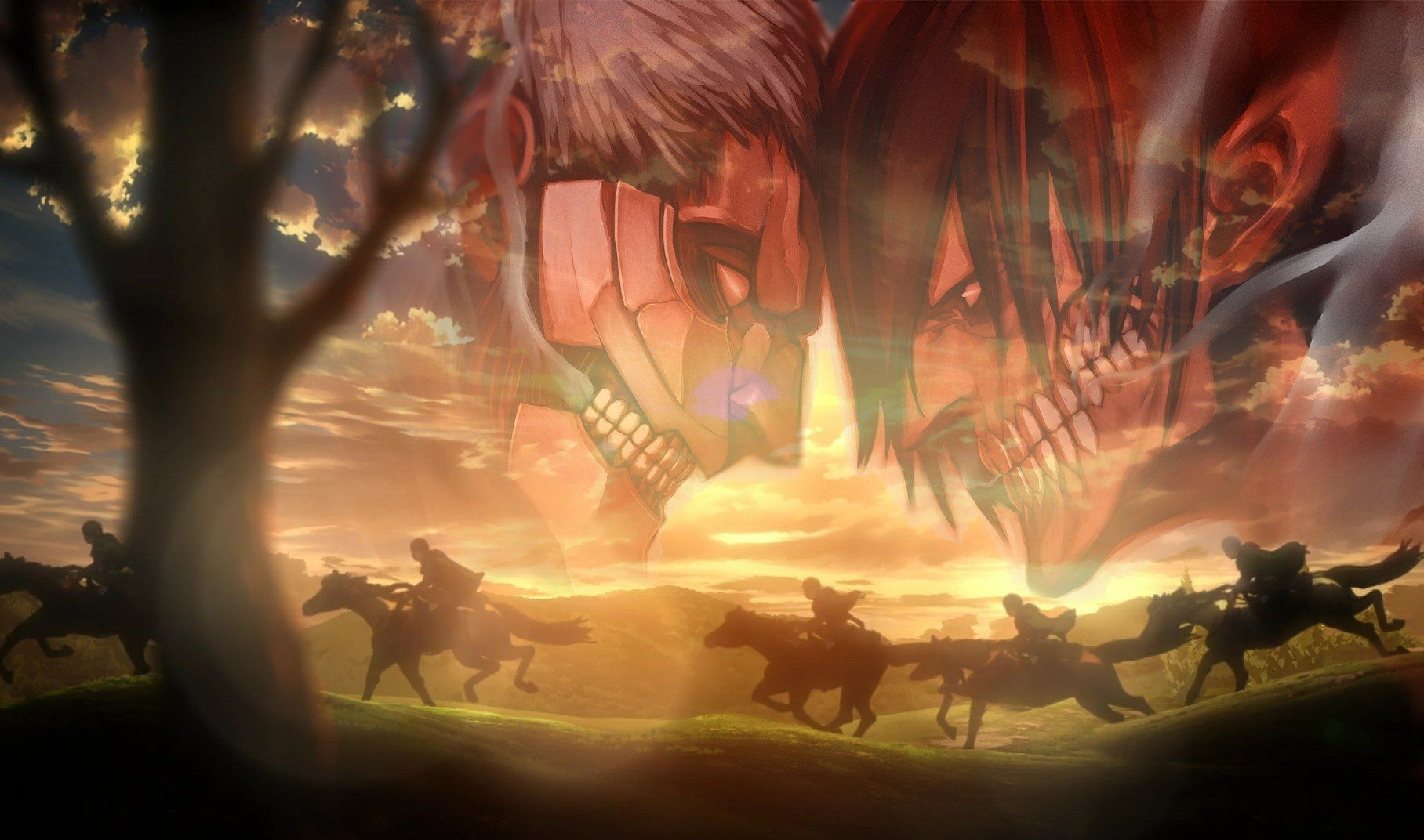 5760 X 1080 Wallpaper Attack On Titan 1816x1072 Wallpaper Teahub Io