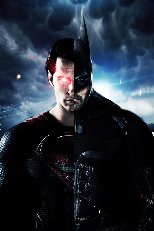 Com Apple Wallpaper Batman Superman Half Iphone4 - Batman Vs Superman Hd Wallpapers For Iphone - HD Wallpaper