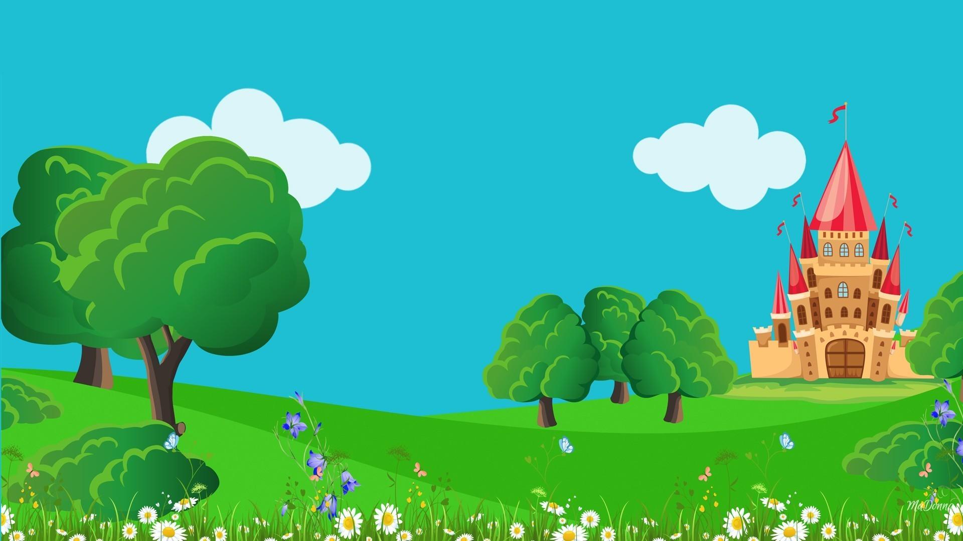 Tale Tag - Fairytale Castle Background - HD Wallpaper