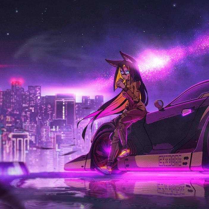 Anime Girl Cyberpunk Animated Live Wallpaper - Cyberpunk Girl - HD Wallpaper