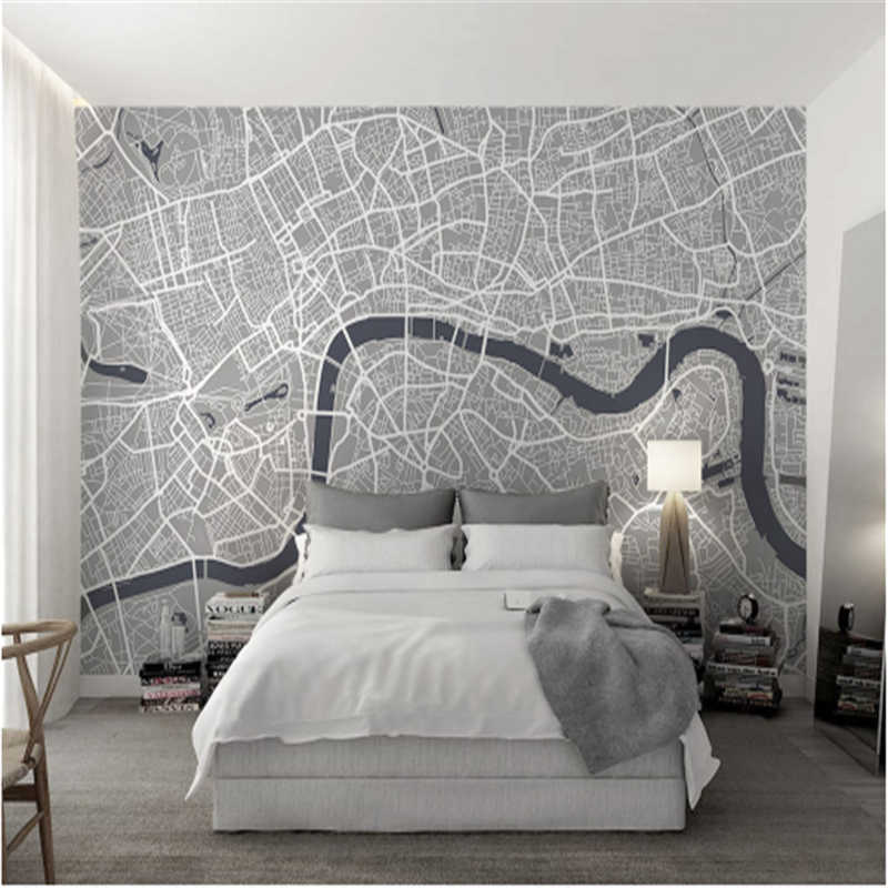 Custom 3d Wall Murals Grey Wallpaper Bedroom Line Gray - Grey Wallpaper For Bedroom - HD Wallpaper