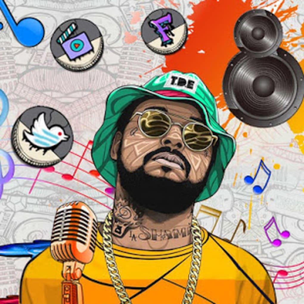 Hip Hop Music Theme Live Wallpaper - Color Phone Launcher Hiphop - HD Wallpaper