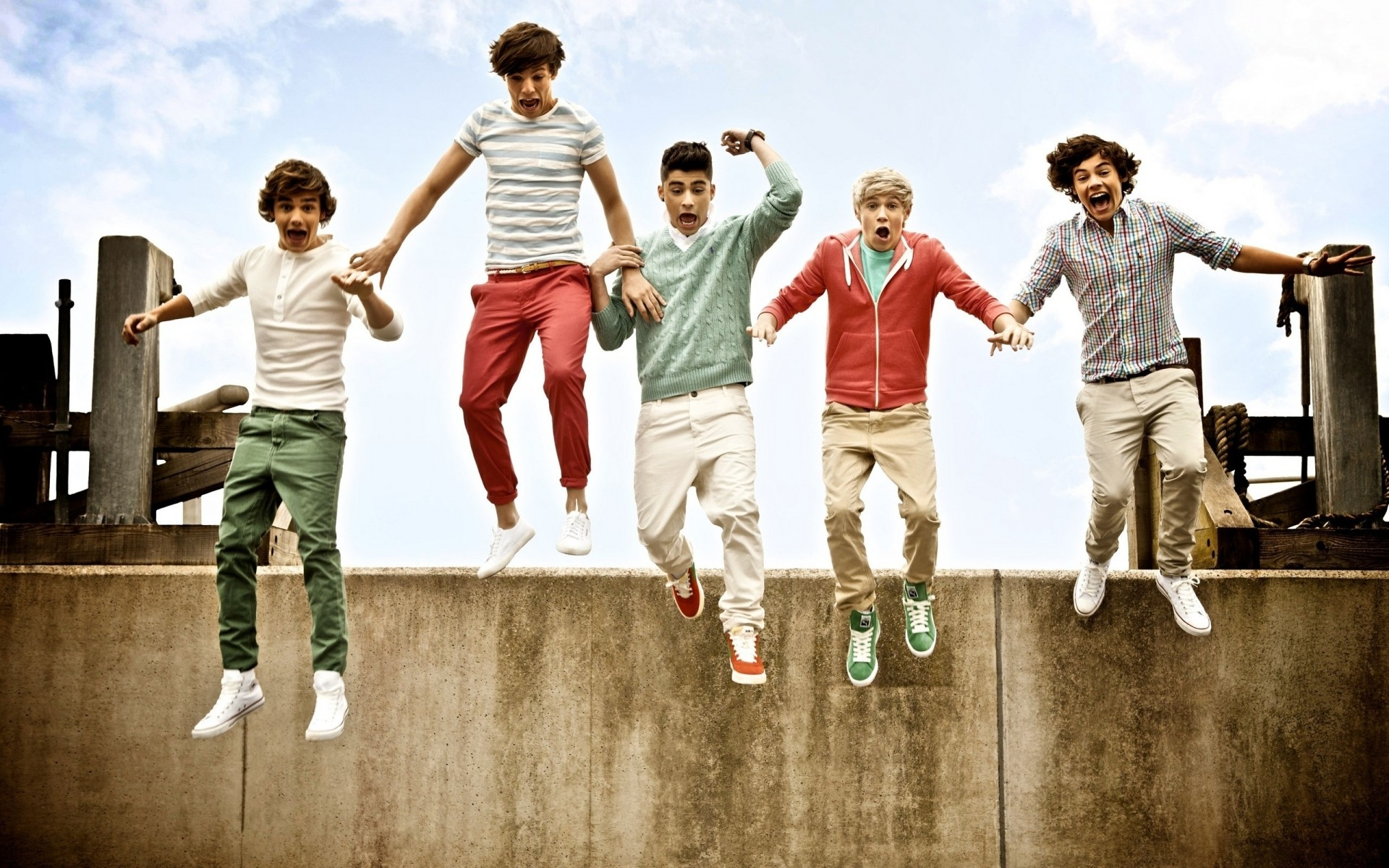 Bands Child Fun Boy Joy Happiness Man Friendship Outdoors - Up All Night One Direction Photoshoot - HD Wallpaper