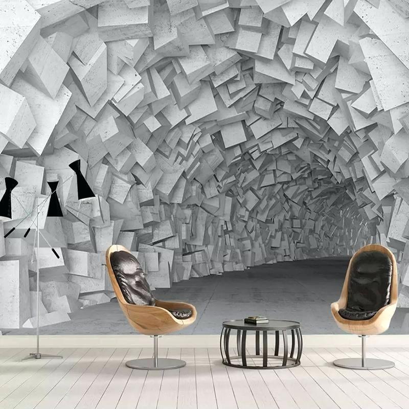 Custom Wallpaper For Walls Stereoscopic Space Geometric - Extension Wallpaper 3d - HD Wallpaper