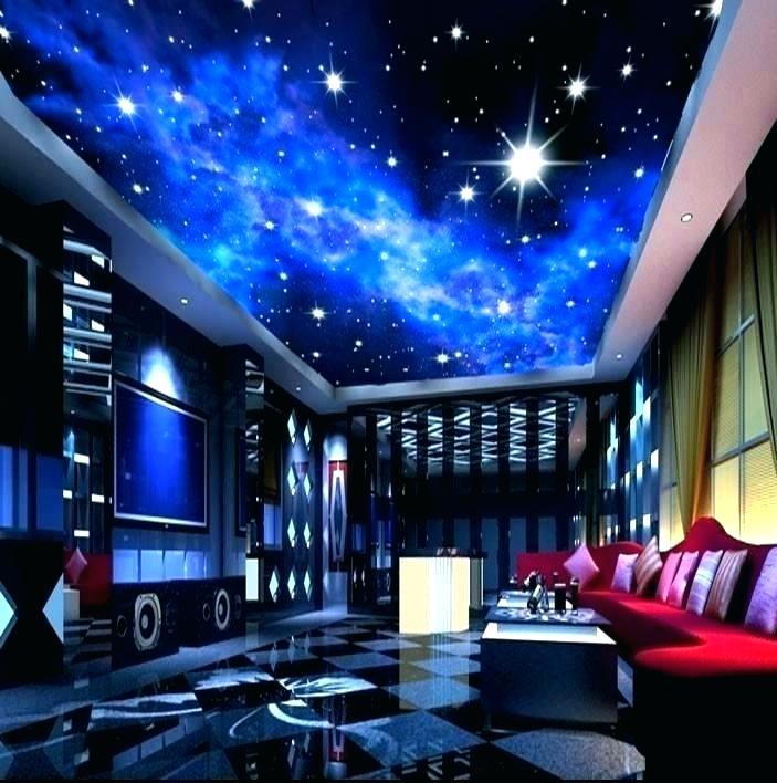 Galaxy Bedroom Walls Wallpaper For House Ceiling - Galaxy Themed Bedroom - HD Wallpaper