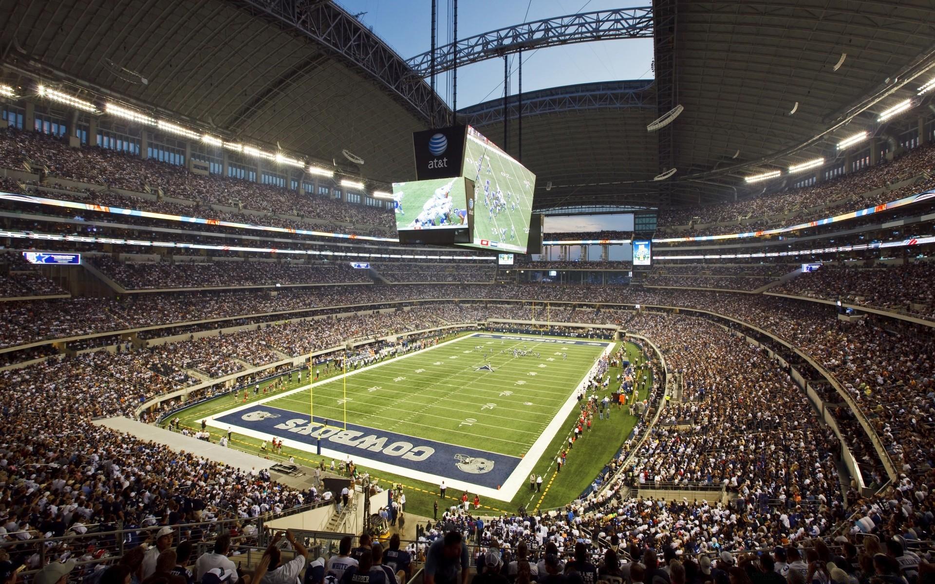Football Stadium Competition Grandstand Soccer Sports - Dallas Cowboys Stadium Hd - HD Wallpaper