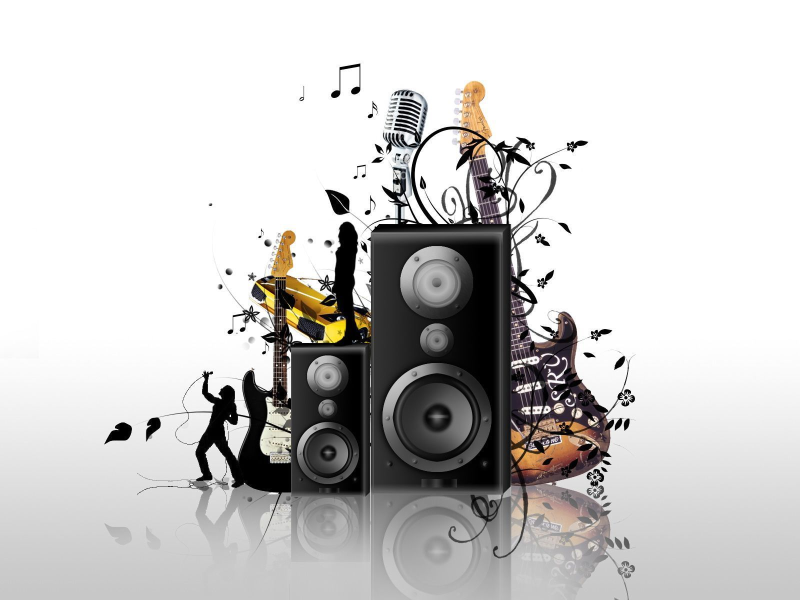 White Music Background Wallpaper Hd ...