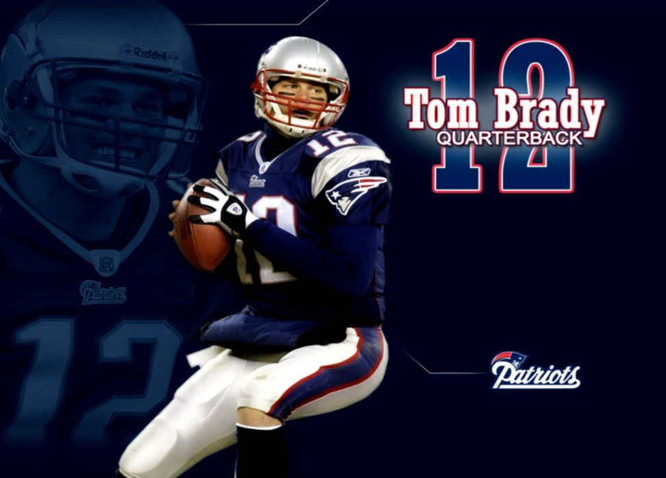 New England Patriots Tom Brady Photo - New England Patriots Logo Tom Brady - HD Wallpaper