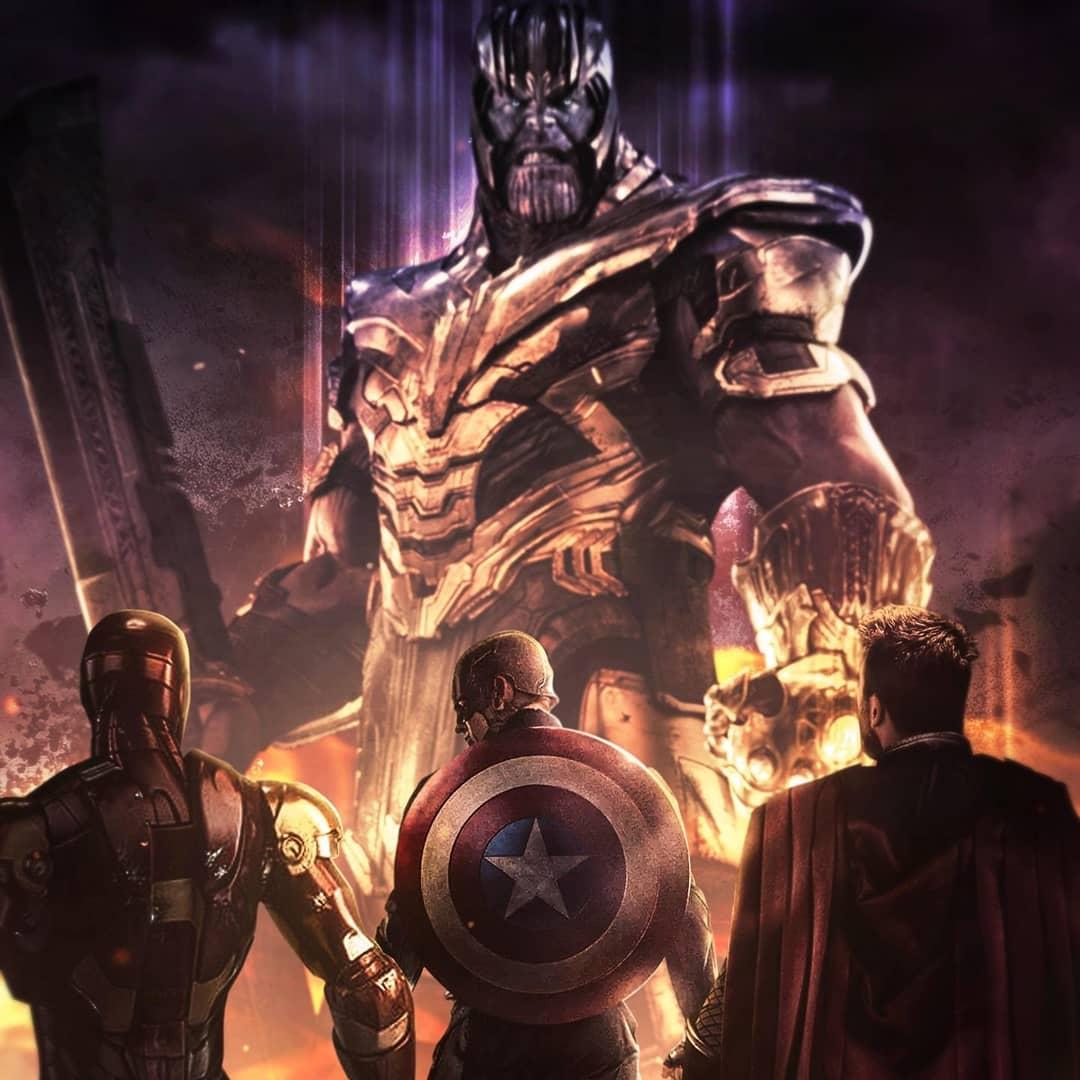 Avengers Endgame Hd Wallpaper Download Thanos Vs Iron Man Thor Captain America 1080x1080 Wallpaper Teahub Io