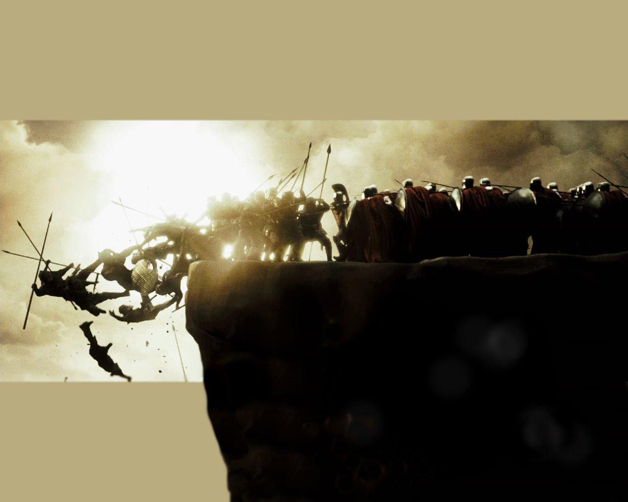 Posterhouzz Movie 300 Spartans Historical Warrior Spear ...