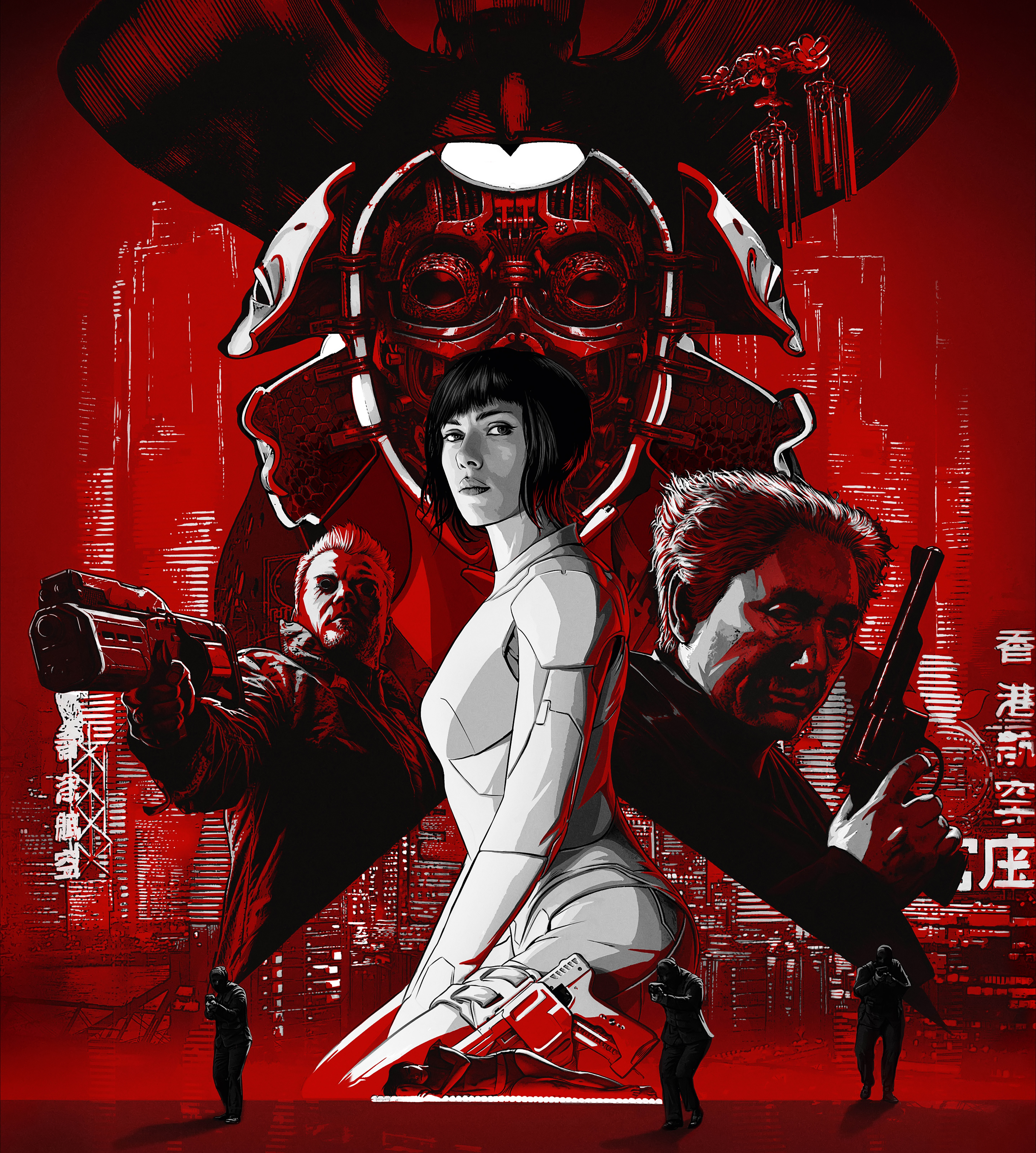 Ghost In The Shell Movie Poster 5416x6028 Wallpaper Teahub Io