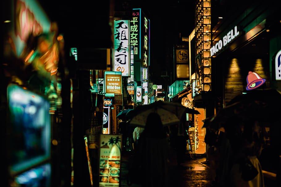 City Street Night Free - HD Wallpaper