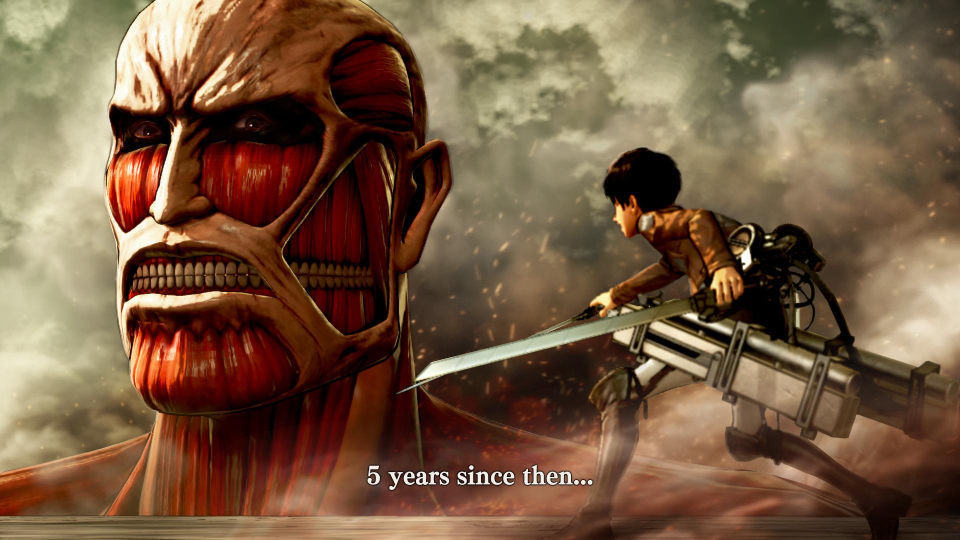 Attack On Titan 2 Game Colossal Titan 1920x1080 Wallpaper Teahub Io