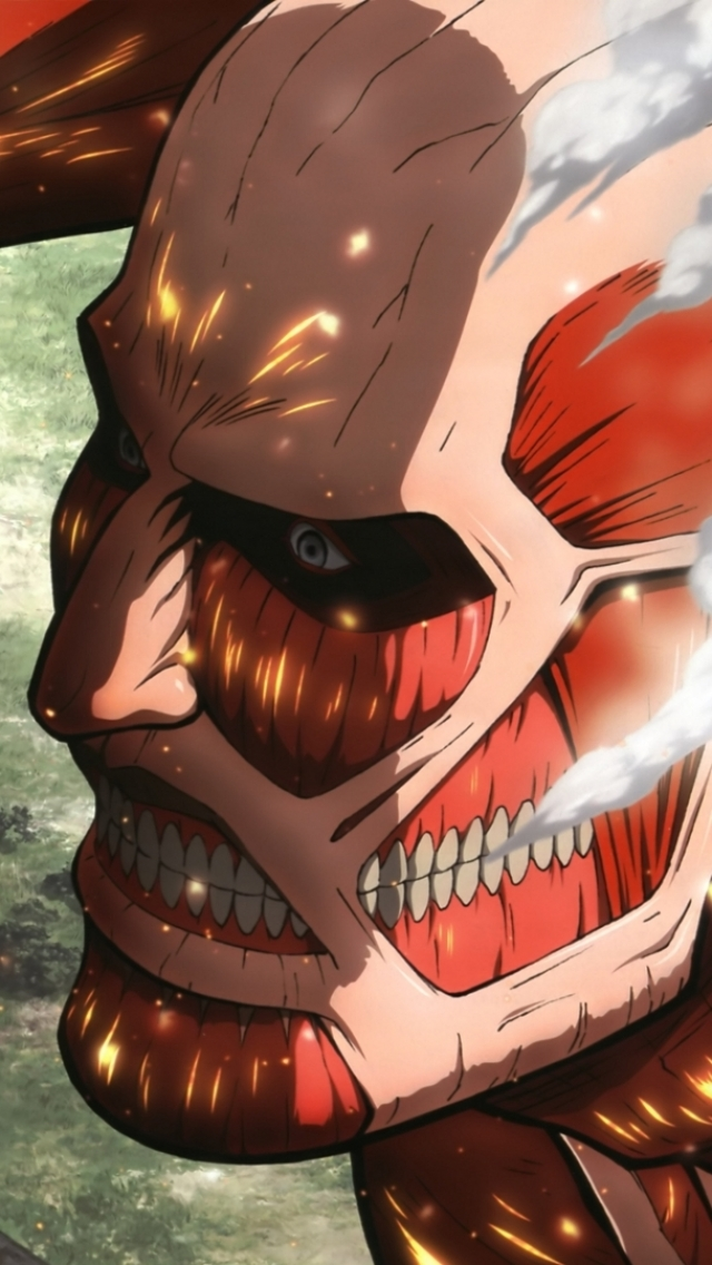 Attack On Titan Wallpapers Eren And Colossal Titan 640x1136 Wallpaper Teahub Io