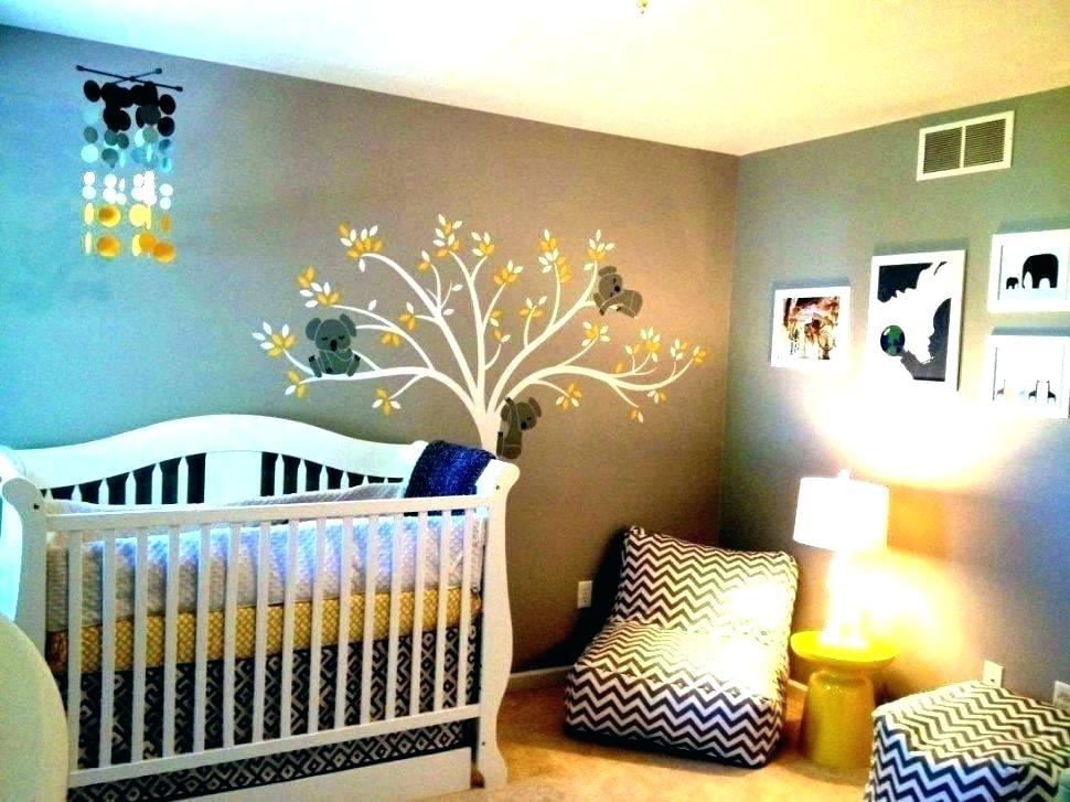 Baby Boy Nursery Themes Baby Boy Bedroom Themes Decoration - Nursery Room Ideas Greyand Yellow - HD Wallpaper