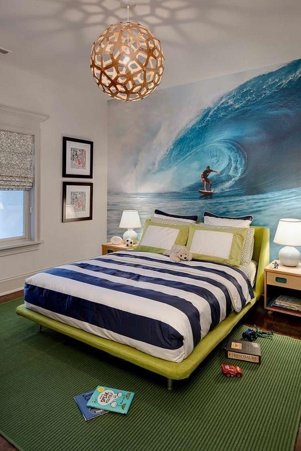 Teen Bedroom Decor Accent Ideas Surf Photo Wallpaper - Teenage Boy Wall Mural - HD Wallpaper