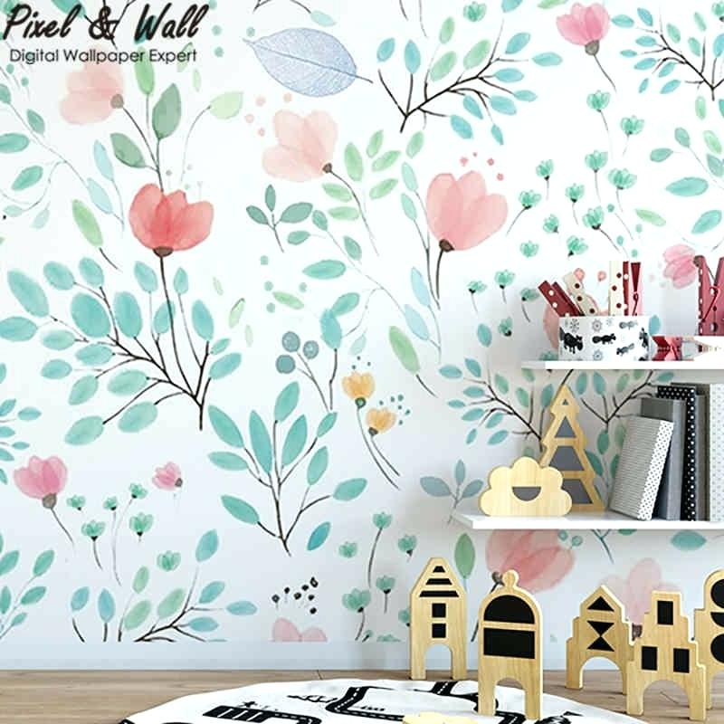 Kid Room Wall Murals Baby Decals Canada Hand Painted - Floral Mural Kids Room - HD Wallpaper